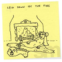 Leiadownbythefire