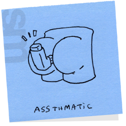 Butts-assthmatic